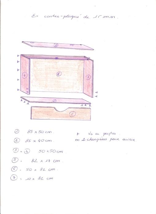 Fabriquer table basse avec plan de travail - Comment fabriquer une table basse ...